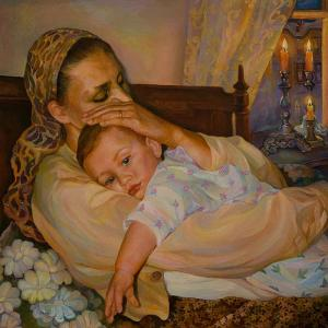 Mother With Child by Elena Kokin